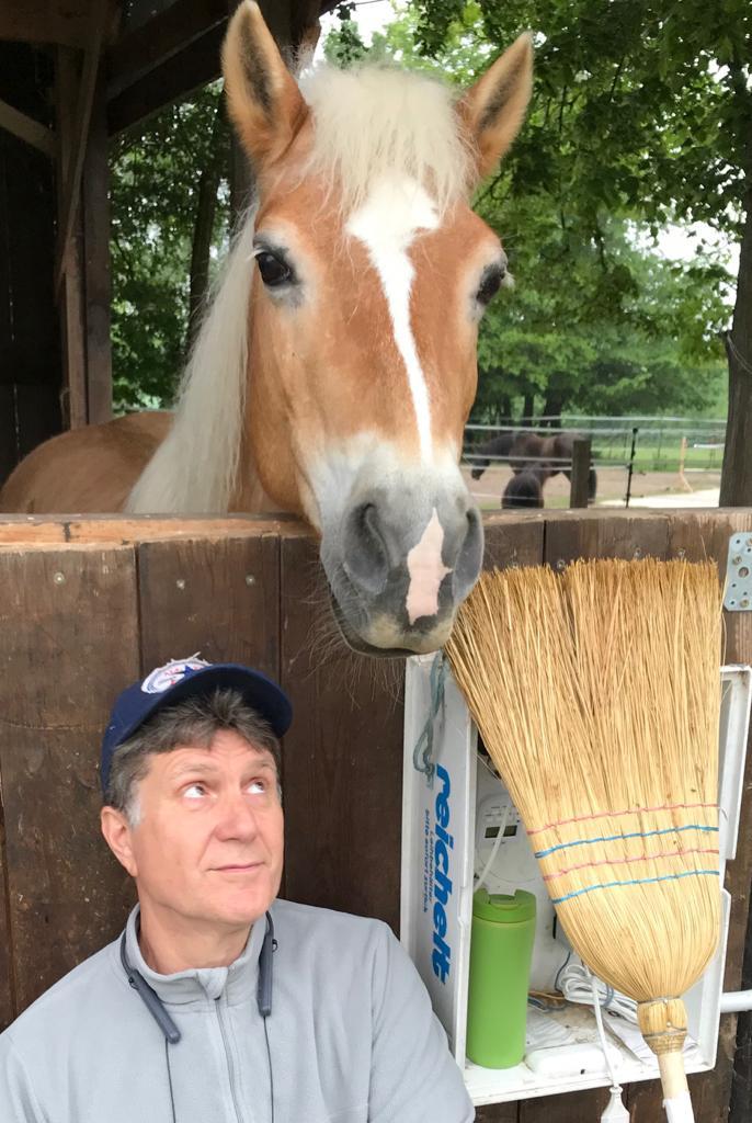 Ulrich Eggers mit Pferd ist am umdenken